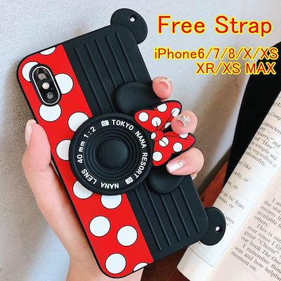 4dbb533a0d 韓国ディズニーミッキーミニースタンドシリコン携帯ケースiPhone XS Max XRケースiphonexケースiPhone7