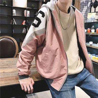 韓国ファッション 新品スニーカー大人気 ポップなファッション フートつき ジャケット アウター カップル カッコイイ