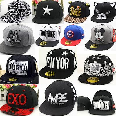 0c1634eb635062 韓国ファッション EXO BIGBANG 韩国子供服 キッズ帽子 子供 キャップ ミリタリー ワークキャップ ブラック ヒップ