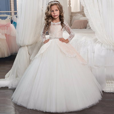 785db49e39e9e 韓国子供服 子供ドレス 結婚式 ピアノ発表会 子どもドレス 長袖スカート 女の子用