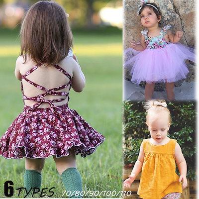 d8ed7ac5dbb4a 韓国子供服 70-110cm レース 子供ワンピース 可愛いキッズドレス 赤ちゃんドレス、ベビー