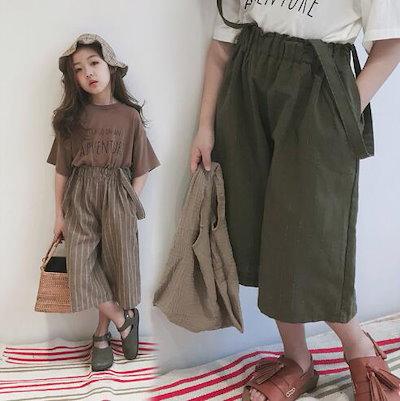 825c37c32ec7c 韓国 子供服 ファッション 女の子 サロペット パンツ ズボン 入学式 100-150cm綿麻オーバーオール
