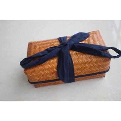 【NEW限定品】 かご箱 竹の茶の包装 茶器箱 収納ボックス 巾着 手作 竹製編みバッグ, モールジャパン 790c77f2