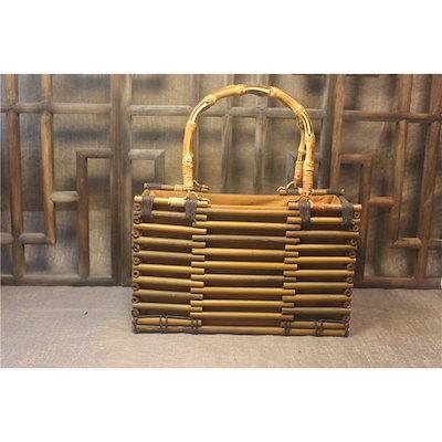 保障できる かご箱 竹製バッグ おしゃれ 女式バッグ収納バッグ巾着  手作りの籠バッグ, 備中松茸本舗 a8a08fdc