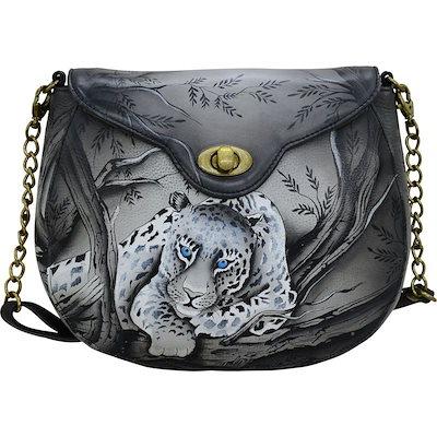 【レビューで送料無料】 アンナバイアナシュカ メンズ ショルダーバッグ バッグ Hand Painted Leather Flap Shoulder Bag, 根羽村 75a540ea