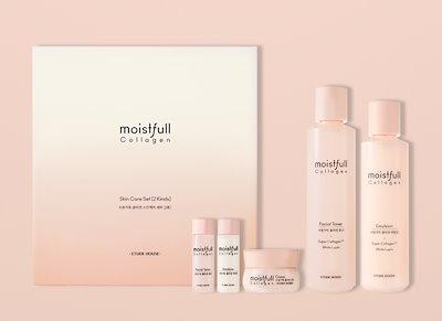 ETUDE HOUSEエチュードハウスモイストフルコラーゲンスキンケア2セット / 韓国の有名な化粧品ブランド部品トナーローション/スキンケア水分補給肌の保湿