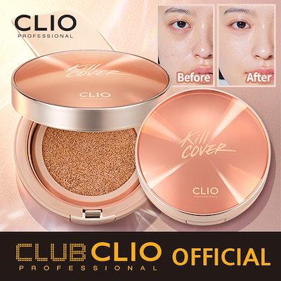[Qoo10] 新発売[CLUBCLIO 公式ショップ] 19SSクリオキルカバー光彩クッションファンデーション本品+リフィル CLIO KILL COVER GLOW CUSHION (447376)