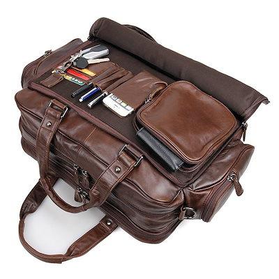 日本製 ビジネスバッグ 本革 メンズ 大容量 高級本革 ブリーフケース 16インチPC対応 メンズ レザー 2WAY 通勤鞄 3室 出張鞄 収納豊富, milimili d41026c1