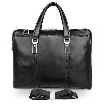 柔らかい ブリーフケース メンズ 本革 通勤鞄 手提げ鞄 レザー ビジネスバッグ レザー ブラック ショルダーバッグ 14インチPC収納, POWER STATION 76dd7677
