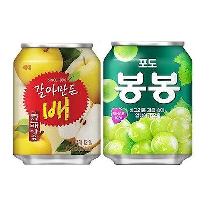 2種類から選べる韓国人気ジュース24缶セット ぶどうボンボン,おろし梨ジュース