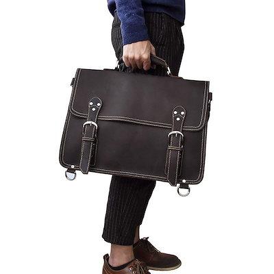 【お得】 リュックサック 厚みレザー 3WAY 機能性 旅行鞄 レトロ 大容量 ビジネスバッグ メンズ 本革 ディバッグ ショルダーバッグ 16インチPC対応, ウタツチョウ 19f5cf43