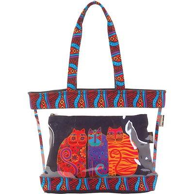注目ブランド ローレルバーチ メンズ スーツケース バッグ Feline Friends Clear Travel Tote, 二次会の虎 e6a2f027