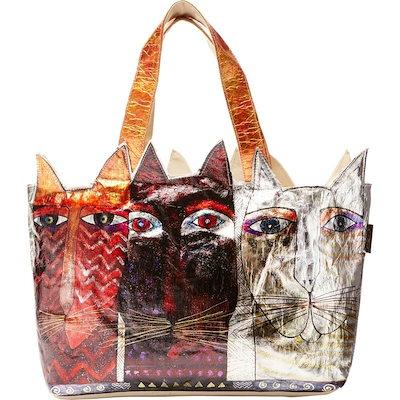 【期間限定お試し価格】 ローレルバーチ メンズ トートバッグ バッグ Foil Ancestral Cats Cut Out Tote, 印象のデザイン 6a9251d8