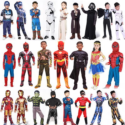 0a3d3b61a55742 クリスマス 衣装 子供 コスプレ 仮装 変装 女の子 ハロウィン衣装 コスチューム スパイダーマン バットマン