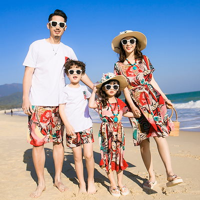 0e17b2e993bfa 2018夏~ 新品~ セット 旅行 カップル 韓国 子供服 親子ペアルック 親子お揃い