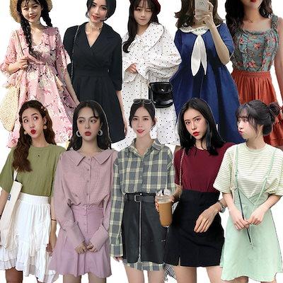 9b13c56cb6d25 ☆2019初春韓国ファッション ワンピース  スカート レブラウス ブラウス スリム