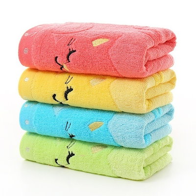 25*50 cm For Home Bathing Shower Towel Living Cute Cat Child Towel Bamboo Fiber Towel Cotton Towel S