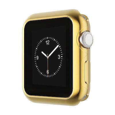 qoo10 38mm 42mm gold apple watch series 2専用ケース メッキ加工