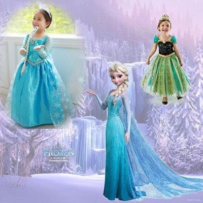 16c3de0aa0b01 4点セット 子供ドレス アナと雪の女王 Frozen アナ Ana エルサ Elsa 女王