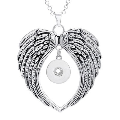 Qoo10 angel wings pendant jewelry for 18 mm snap button charms angel wings pendant jewelry for 18 mm snap button charms rhinestone buttons pendant snap necklace mozeypictures Choice Image