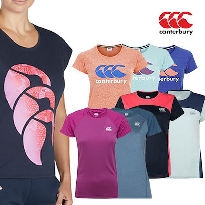 3ee80550812640 【CANTERBURY】カンタベリー/レディースTシャツ/バンパルティーシャツ