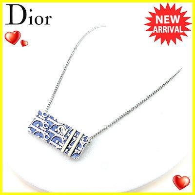 983336fbe8 ディオール Dior ネックレス ペンダント アクセサリー レディース メンズ 可 トロッタープレート ブルー ホワイト 白 シルバー シルバーメッキ