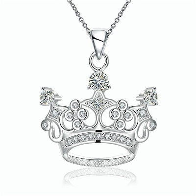 Qoo10 fashion pendant cute sterling silver plated crown pendant fashion pendant cute sterling silver plated crown pendant necklace charm for women accessories size mozeypictures Images