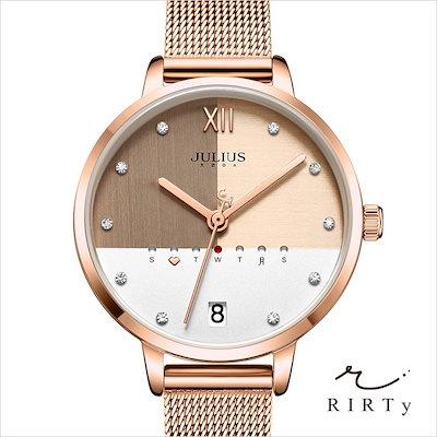 quality design b4734 dc40b 腕時計 レディース 時計 防水 ウォッチ おしゃれ シンプル カジュアル カレンダー 40代 30代 20代 JULIUS ピンクゴールド
