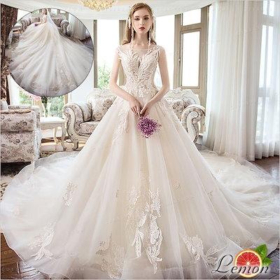 c2423e47ef9d5 花嫁ドレス ウェディングドレス 結婚式 ノースリーブ ワンピース パーティードレス ウエディング 華やかドレス レース セクシー ウェディング