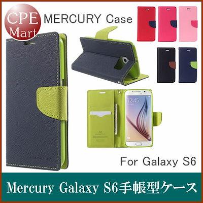 443f64346a MERCURY Galaxy S6レザーケース 手帳型ケース かわいい ストラップホール付、カードポケット付