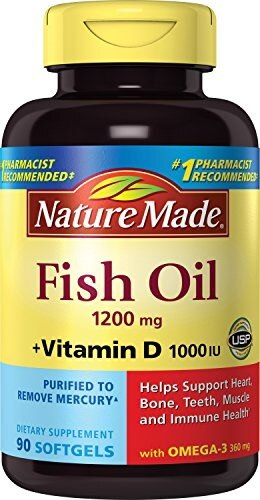 Qoo10 nature made fish oil 1200 mg plus vitamin d 1000 for Fish oil supplement dosage