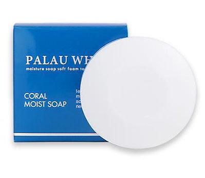PALAU WHITE パラオホワイト コーラルモイストソープ 80g 洗顔 せっけん 石鹸 パラオ白泥 クレンジング