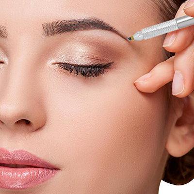 Qoo10 quartly permanent makeup pen eyebrow tattoo manual for Eyebrows tattoo price