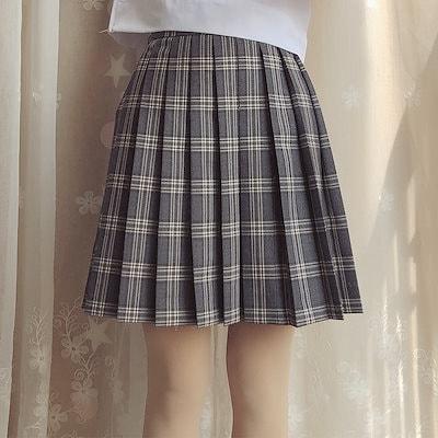 744b464f109 SHALYPOLY® JK 制服 スクールスカート チェック柄 プリーツスカート ハロウイン コスプレ コスチューム ミニスカート 女子