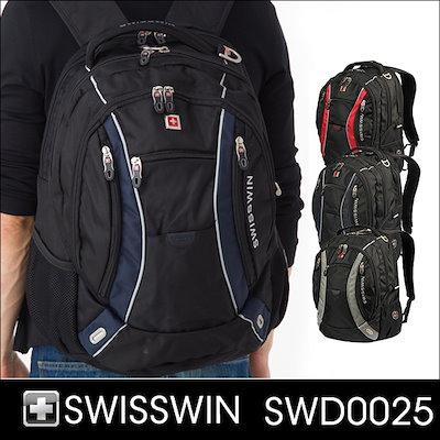 08921f6830 SWISSWIN リュック ビジネスリュック 2層式 大容量ポケット 14型まで対応 ノートPC