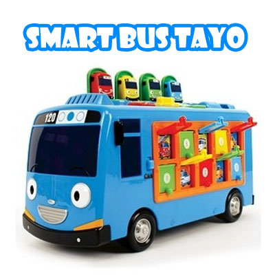qoo10 tayo smart bus toy おもちゃ 知育