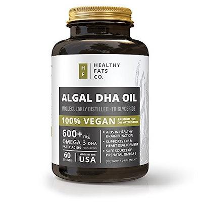 Qoo10 vegan omega 3 algal dha softgels best prenatal for Is fish oil vegan