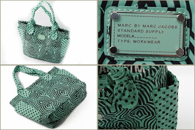 マークバイマークジェイコブス トートバッグ MARC BY MARC JACOBS Pretty Nylon LITTLE TATE グリーンマルチ M0003055