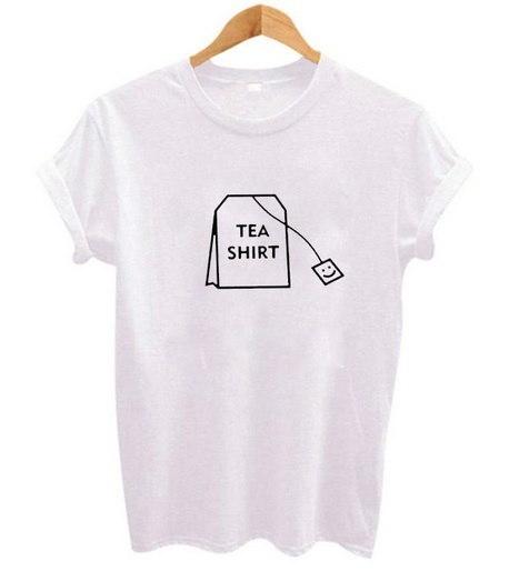 ティーシャツレタープリントレディースTシャツコットンカジュアルファニーTシャツ(ガールズトップティー)原宿パンクシャー
