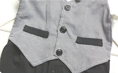 幼児幼児の男の赤ちゃんのロンパースワンピース衣装セット紳士布長袖