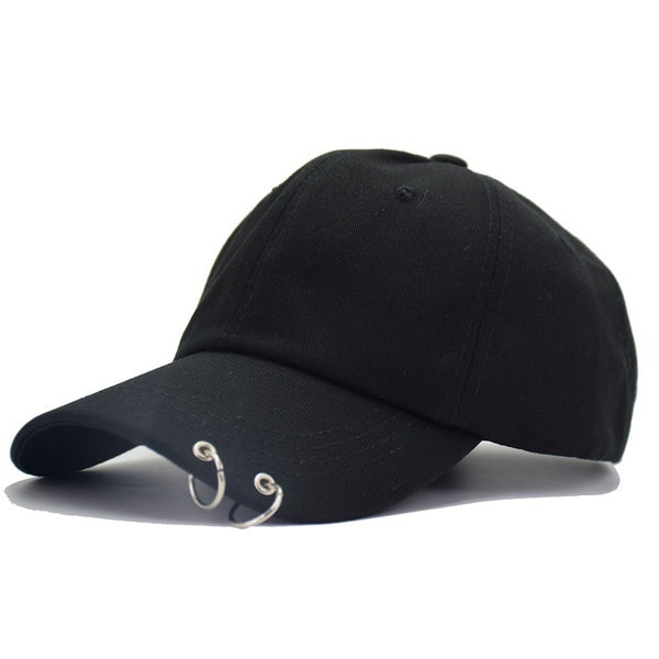 熱い販売2017新しいBTS JIMINファッションK POPの鉄リング帽子調整可能な野球帽100%手作りRi