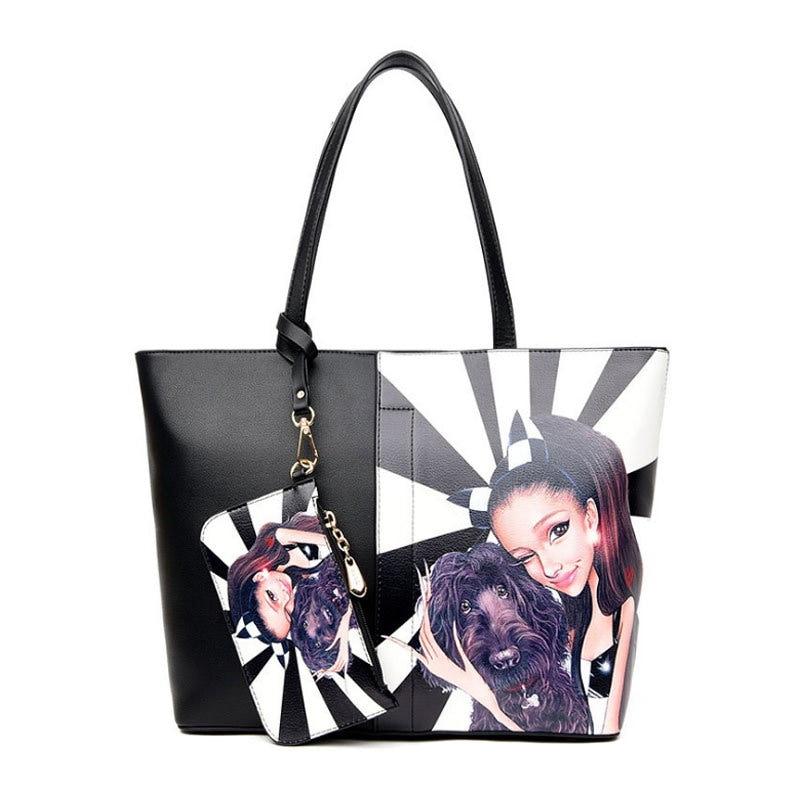 【予約 / 送料無料】2点セットバッグ/レディースプリントバッグ/大容量/使い勝手がよいトートバッグ/通勤/旅行/女子用鞄/6 colors