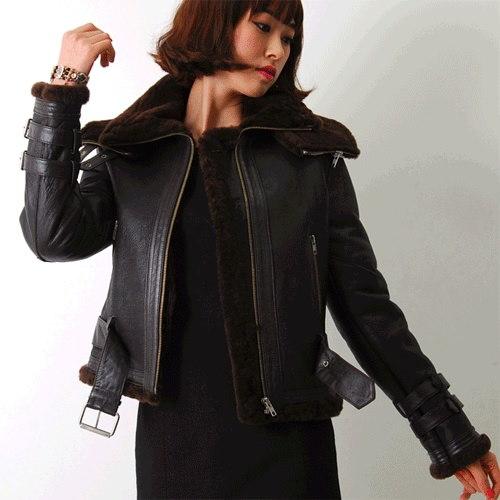 ★送料無料★暖かくてオシャレなアイテム!高級羊皮素材のジャケット・ムートンジャケット