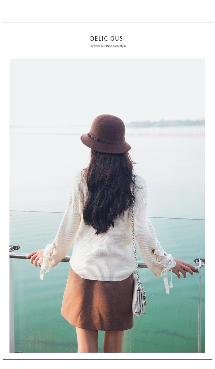 レディース 女性 トップス ニット オーバー プルオーバー セーター カットソー ベーシック カジュアル OL フルカラー 無地 丸襟 ノーカラー 抜け感 シンプル 編み糸 厚い オーバーサイズ
