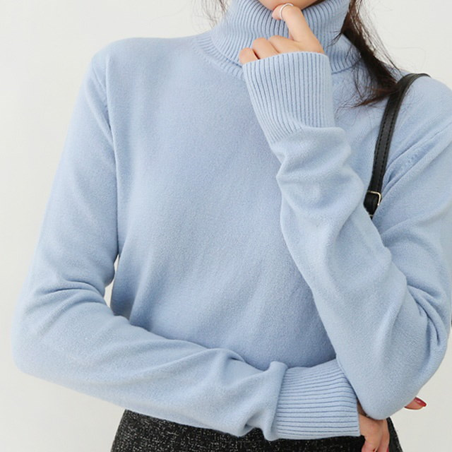 Women s Neck Polar Knit Soft Turtle Polo Neck Knit soft and soft touch to gently wrap the body