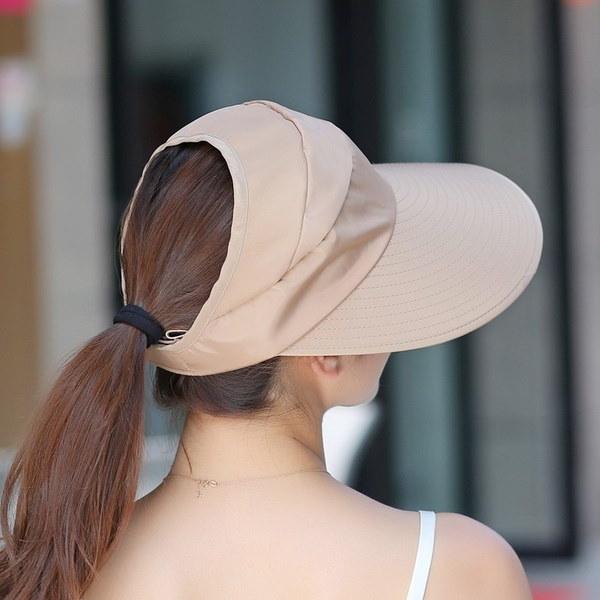 ファッションサン帽子サンバイザー帽子大きな頭の女性のためのサン帽子ビーチ帽子夏のUV保護