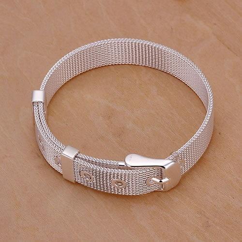 ブレスレット925シルバーブレスレット925シルバーファッションジュエリー小さなメッシュストラップブレスレット卸売ジュエリー