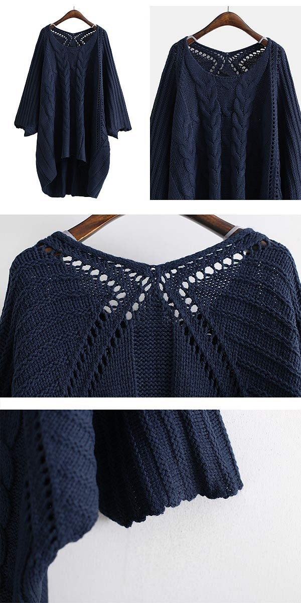 ニット レディース セーター リブ編み トップス  (t386) 【SALE】