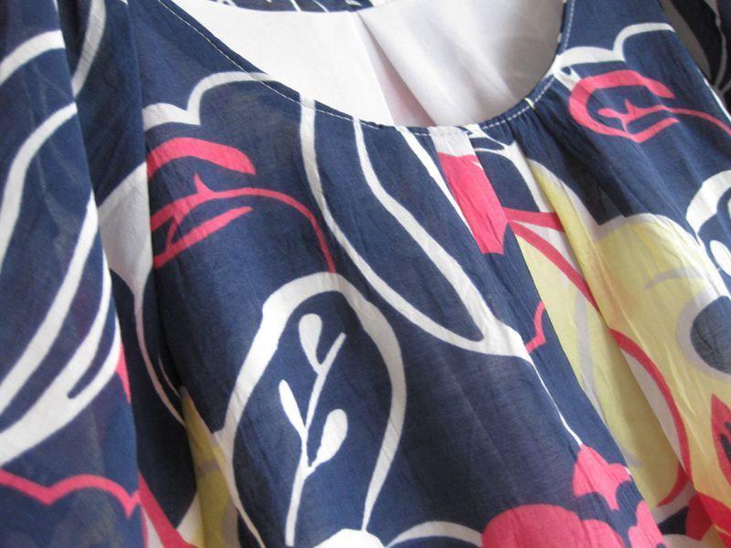 【送料込】 213 Industry アロハな雰囲気が旬です ボタニカルプリントサックドレス・ワンピース 2色(213インダストリー アメリカ L.A. インポート)