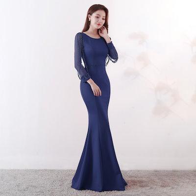 シックな固体プリティイブニングドレス